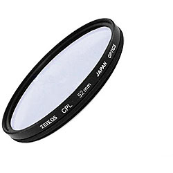 Zeikos 52-mm Multicoated Circular Polarizer Glass Lens Filter