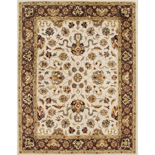 Hand-tufted Delhi Vanilla Custard Wool Rug (8' x 10')