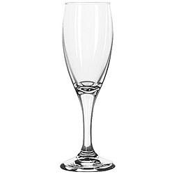 Libbey Teardrop Stemmed 6-oz Flute Glasses (Pack of 12)