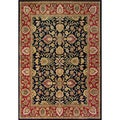 Alliyah Handmade Dark Navy 100 Percent New Zealand Wool Rug (5' x 8')