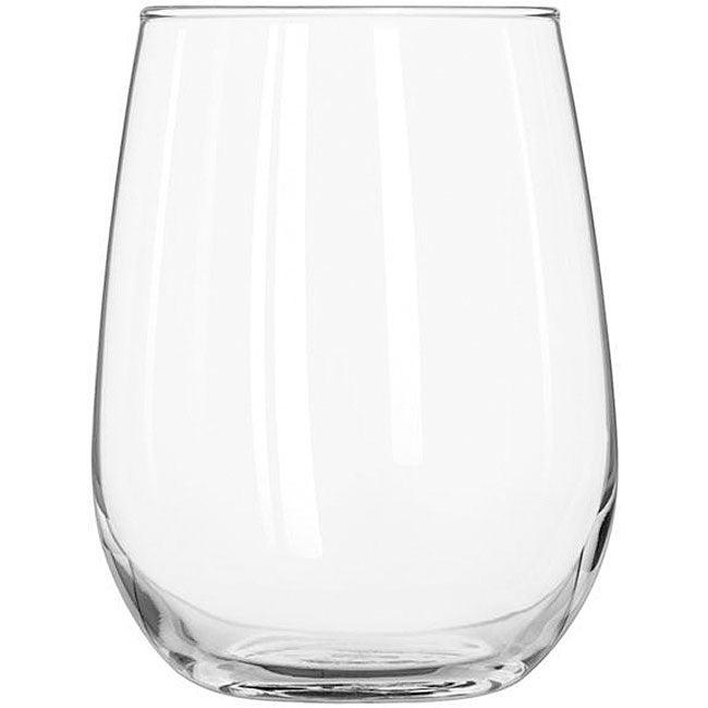 Libbey 17-ounce Stemless White Wine Glasses (Pack of 12)