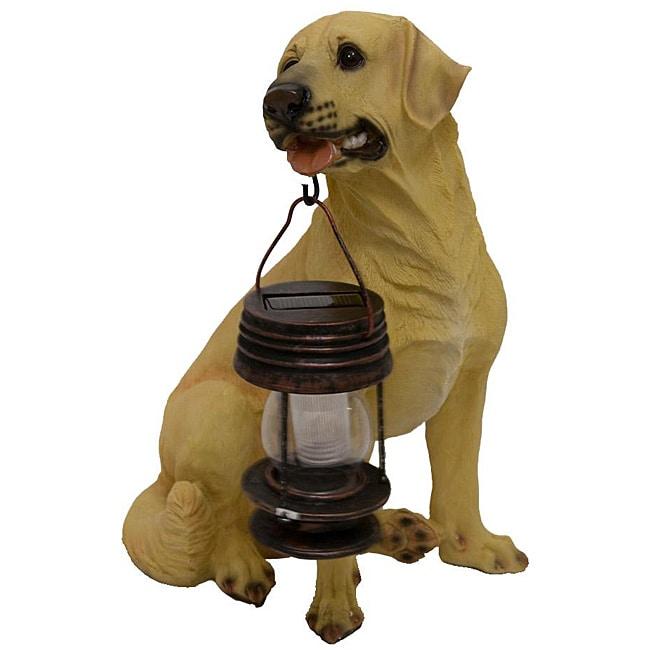 Tricod Yellow Labrador Dog with Lantern Solar Light