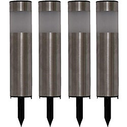 Tricod Stainless Steel Tube Solar Lights (Set of 4)