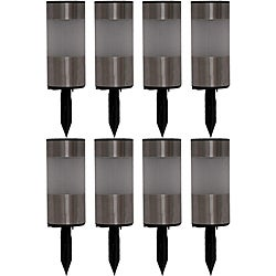 Tricod Stainless Steel Tube Solar Light (Set of 8)
