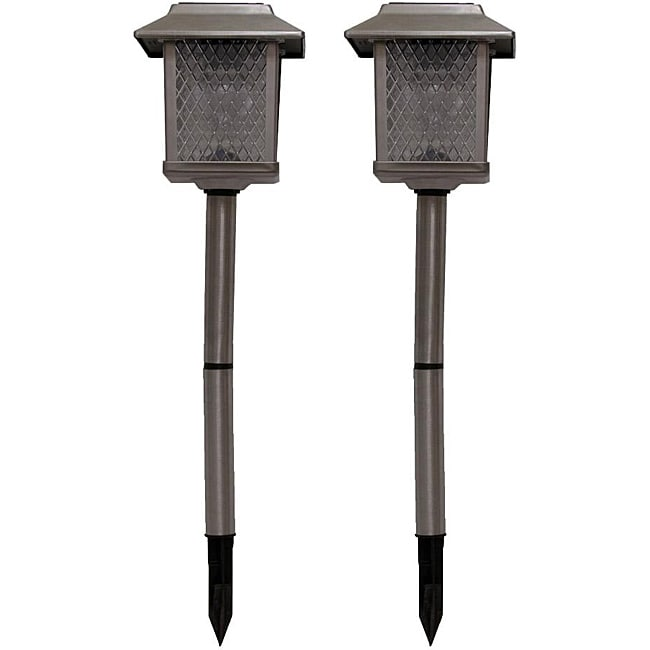 Tricod Stainless Steel Square Solar Lights (Set of 2)
