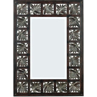 Marcel 32-inch High With Dark Walnut Finish Wall Mirror