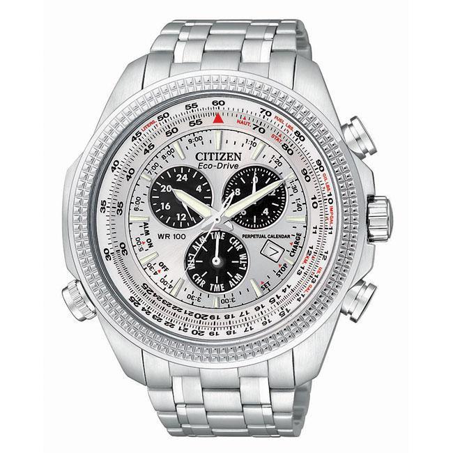 Citizen Men's Perpetual Calendar Chronograph Stainless Steel Watch