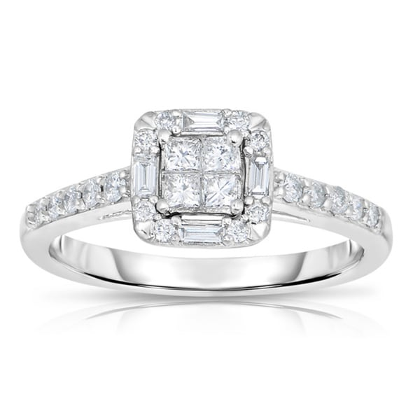 10k White Gold 1/2ct TDW Diamond Engagement Ring (G-H, SI1-SI2)