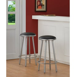 Modern Metal Counter Stools (Set of 2)