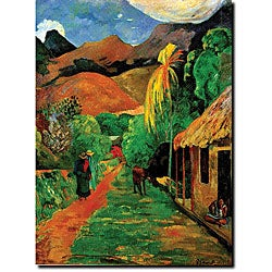 Paul Gaughin 'Rue de Tahiti' Gallery-wrapped Canvas Art