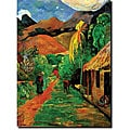 Paul Gaughin 'Rue de Tahiti' Gallery-wrapped Canvas Art