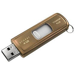 SanDisk Ultra Titanium Plus 4GB USB Flash Drive (Bulk Packaging)