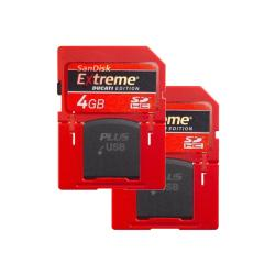 SanDisk Extreme Ducati Edition 4GB SD Plus Flash Memory Cards (Case of 2--Bulk Packaging)