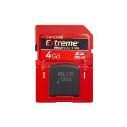 SanDisk Extreme Ducati Edition 4GB SD Plus Flash Memory Card (Bulk Packaging)