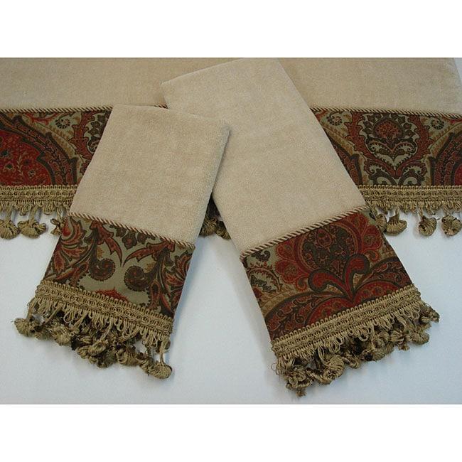 Sherry Kline Rosabella Decorative 3-piece Towel Set