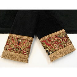 Sherry Kline Tangiers Black 3-piece Decorative Towel Set