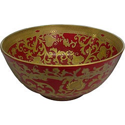Porcelain Red and Gold Bowl
