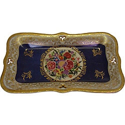 Royal Bouquet Rectangular Porcelain Platter