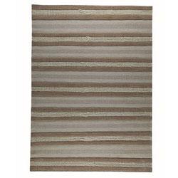 Hand-woven Gren Beige Wool Rug (5'6 x 7'10)