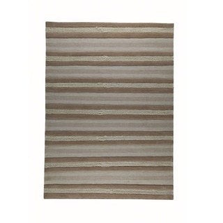 M.A.Trading Hand-woven Grenada Beige Wool Rug (4'6 x 6'6)