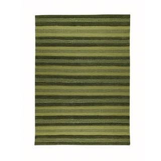 M.A.Trading Hand-woven Grenada Green Wool Rug (4'6 x 6'6)