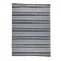 Hand-woven Gren Grey Wool Rug (4'6 x 6'6)