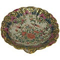 Rose Medallion Porcelain Scallop Dish