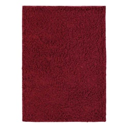 Hand-woven LMIX Red Wool Rug (4'6 x 6'6)