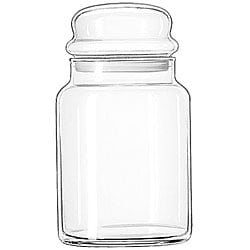 Libbey 32-oz Glass Storage Jars (Pack of 12)