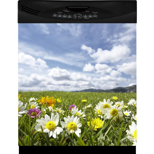 Appliance Art Flower Field Dishwasher Cover