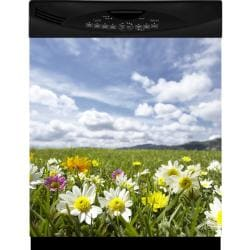 Appliance Art Flower Field Dishwasher Cover