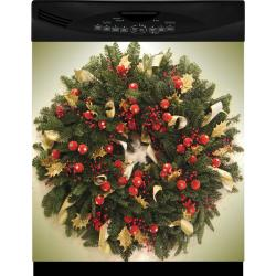 Appliance Art Holiday Wreath Dishwasher Cover