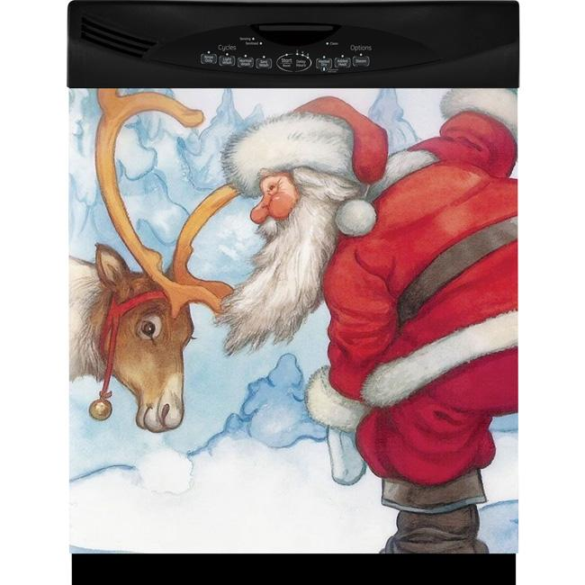 Appliance Art Santa and Reindeer Dishwasher Cover
