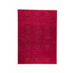 M.A.Trading Hand-tufted Malmo Red Wool Rug (8'3 x 11'6)