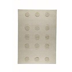 Hand-tufted Malm Beige Wool Rug (5'6 x 7'10)