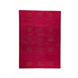 M.A.Trading Hand-tufted Malmo Red Wool Rug (6'6 x 9'9)