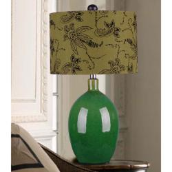 1-light Green Ceramic Table Lamp