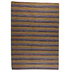 Hand-knotted Indo-tibetan Manc Wool Rug (5'6 x 7'10)