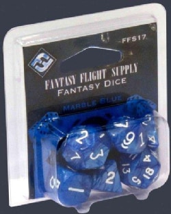 Fantasy Flight Supply Roleplay Dice: Marble Blue (Game)