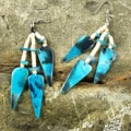 Turquoise Hammershell Earrings (Philippines)