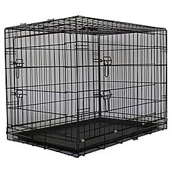 GoPetClub 24-inch 2-door Folding Dog Crate