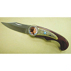 American Coin Treasures Colorized Buffalo Nickel Pocket Knife