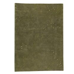 Hand-knotted Indotibetan Path Green Wool Rug (56 x 710)