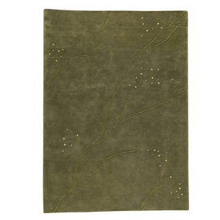 M.A.Trading Hand-knotted Indotibetan Path Green Wool Rug (5 6 x 7 10)