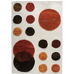 Hand-tufted Plan Natural New Zealand Wool Rug (8'3 x 11'6)