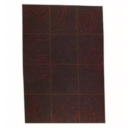 Hand-knotted Brown Floral Wool Rug (8'3 x 11'6)