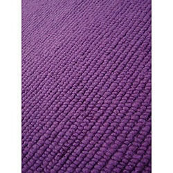 Hand-knotted Nodo Lilac Wool Rug (4'6 x 6'6)