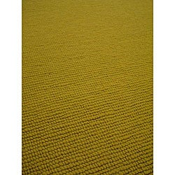 Hand-knotted Nodo Lime Green Wool Rug (4'6 x 6'6)