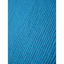 Hand-knotted Nodo Teal Wool Rug (4'6 x 6'6)