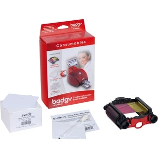 Evolis Badgy Kit- Thick cards, ribbon, cleaner